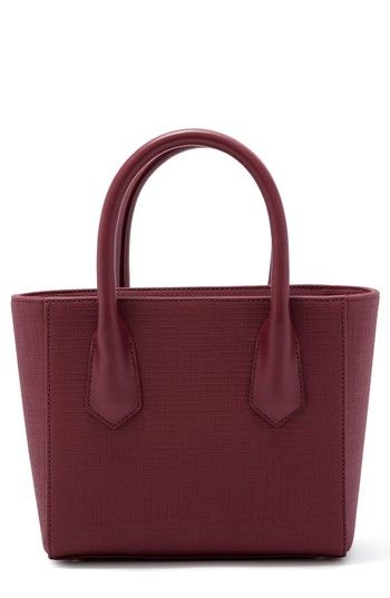 a0d7563faf96 DAGNE DOVER PETITE SIGNATURE COATED CANVAS TOTE - BURGUNDY.  dagnedover   bags  shoulder bags  hand bags  canvas  tote