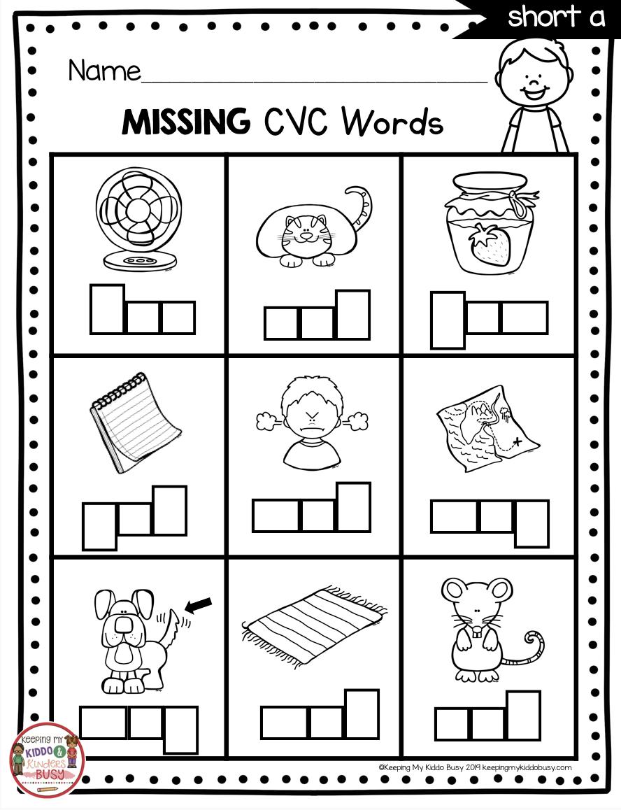 Phonics Unit 4 CVC Words & Word Families FREEBIE en 2020