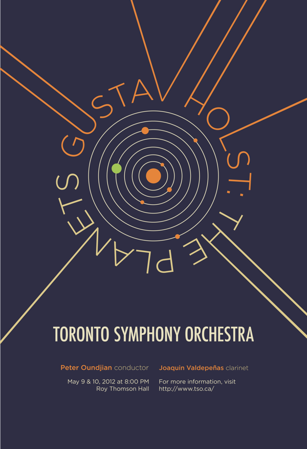 Toronto Symphony Orchestra Concert Poster by Yukiko Suzuki