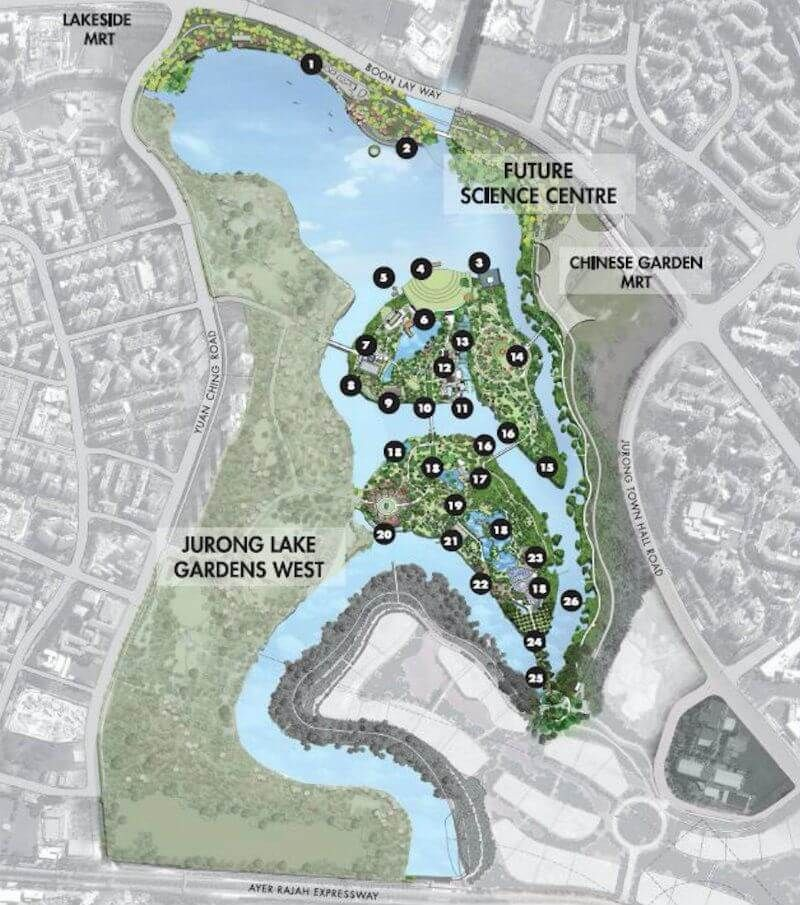 Masterplan For Jurong Lake Gardens With Images Lake Garden