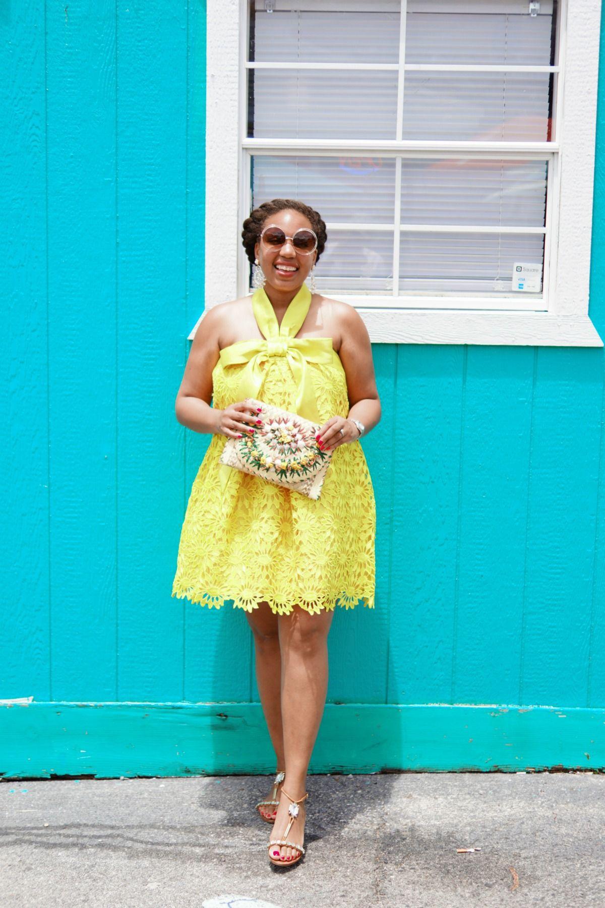 asos salon, yellow lace dress, nyc fashion blogger | Shopping List ...