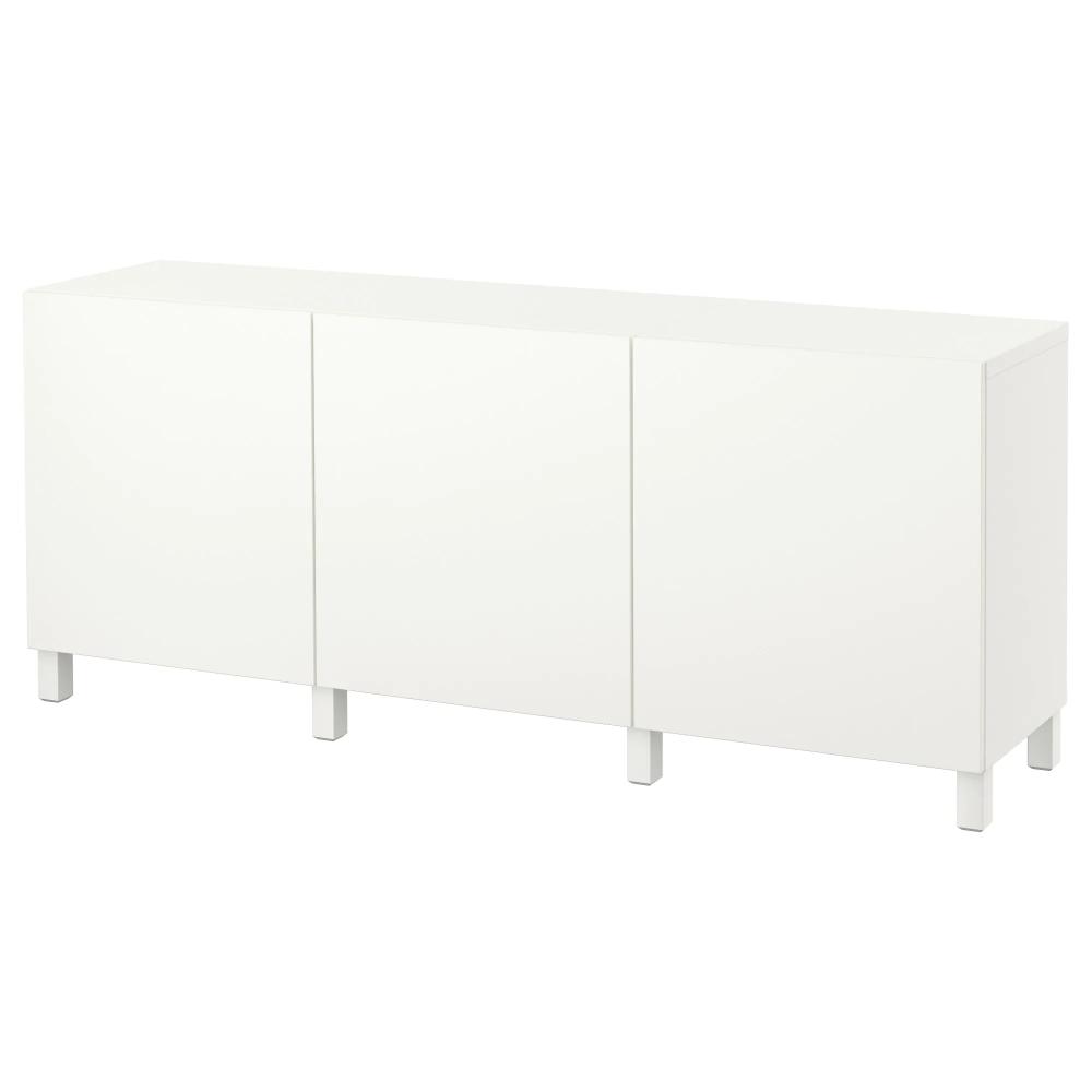 Besta Storage Combination With Doors Lappviken White Ikea White Storage Ikea Storage
