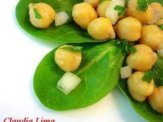 Salada de Espinafre e Grão-de-Bico