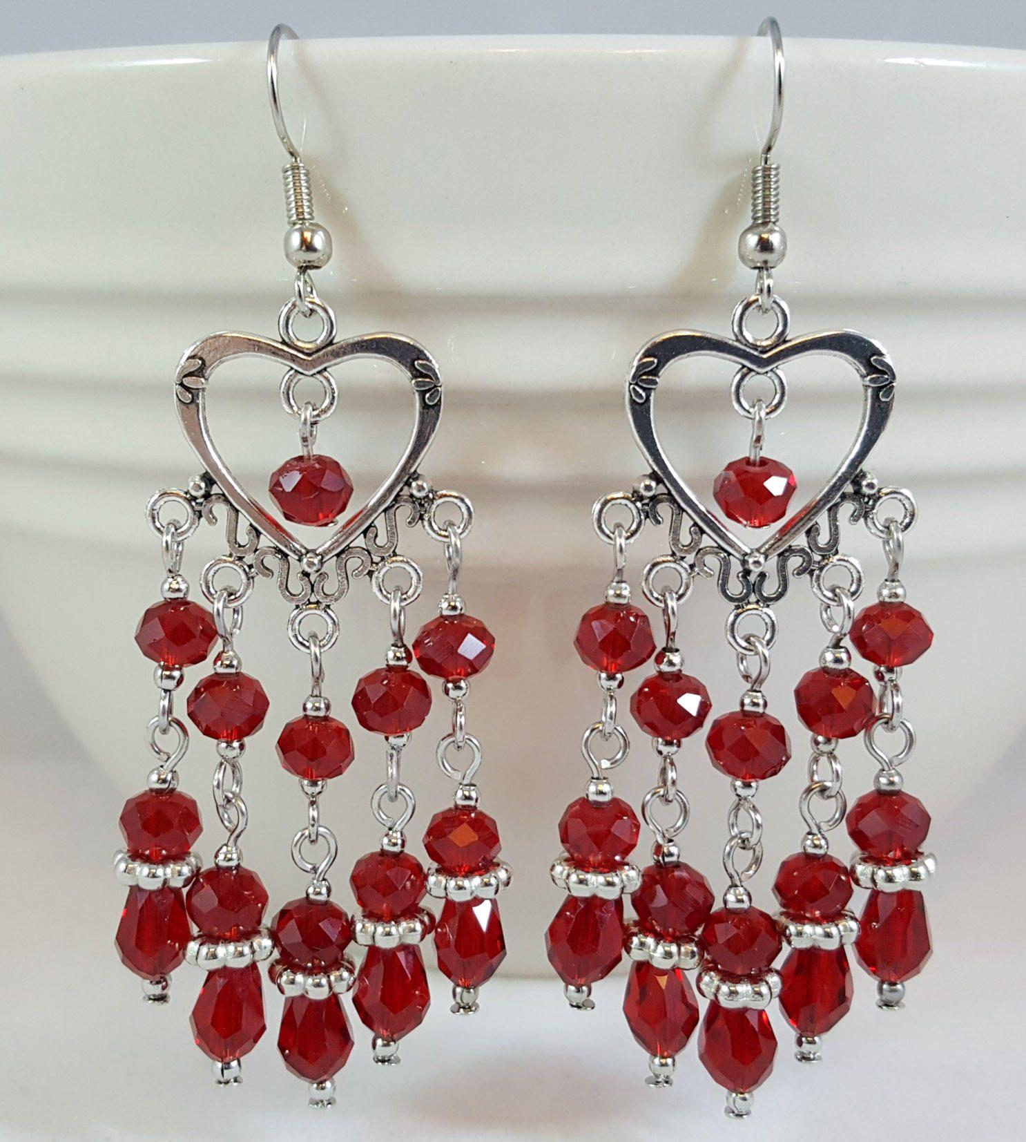 Red heart chandelier earrings heart earrings chandelier earrings red heart chandelier earrings heart earrings chandelier earrings valentines day gift statement earrings gift for wife girlfriend gift arubaitofo Choice Image