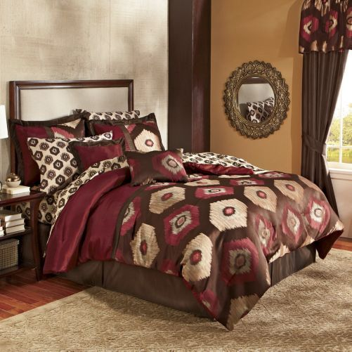 10 Piece Midnight Pieced Bed Set And Window Treatments From