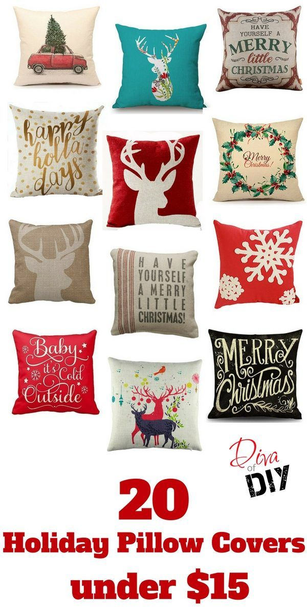 why buy holiday pillows when you can get these must have pillow covers instead these - Christmas Decorative Pillow Covers