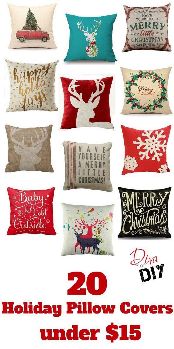 christmas pillow covers holidays
