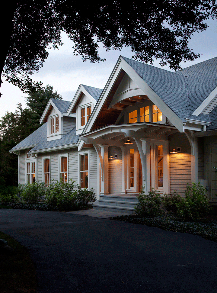 Craftsman Style Home Exteriors Minimalist home exterior color ideas. front yard landscaping. window panels