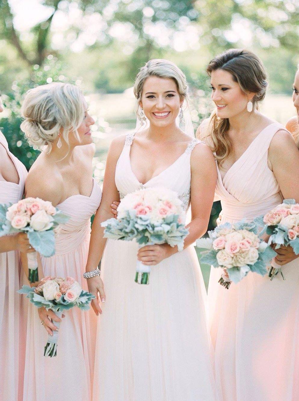 Bill levkoff petal pink bridesmaid dresses kelly pratt maggie sottero phyllis pink flowers the orchard azle tx bridesmaids bill ombrellifo Choice Image
