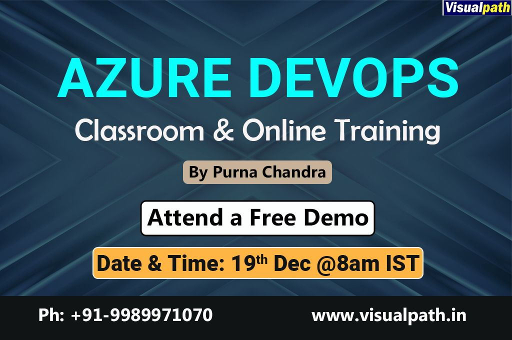 Start your AzureDevOps Training now!! Attend a free demo