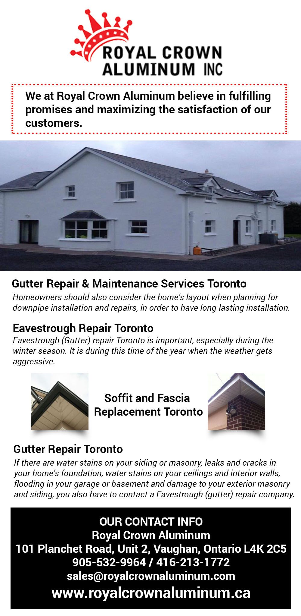 Eavestrough Cleaning Specialists Toronto Clogged Eavestrough Get It Neat And Clean By Calling Eavestrough Cleaning Sp Siding Repair Installation Crown Royal