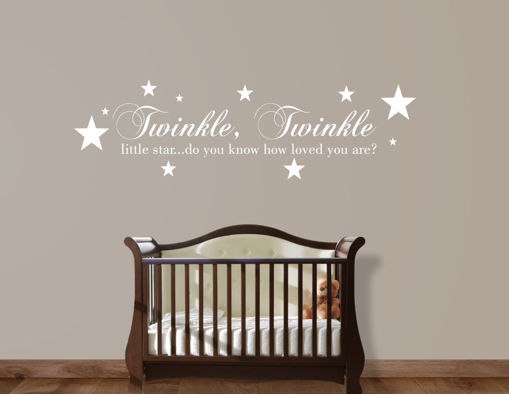TWINKLE TWINKLE LITTLE STAR Kids Baby Room Wall Art Decal Mural ...