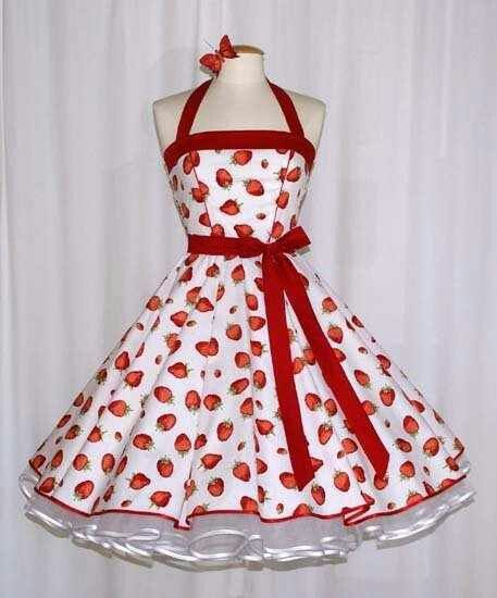 Pretty red and white dress and petticoat