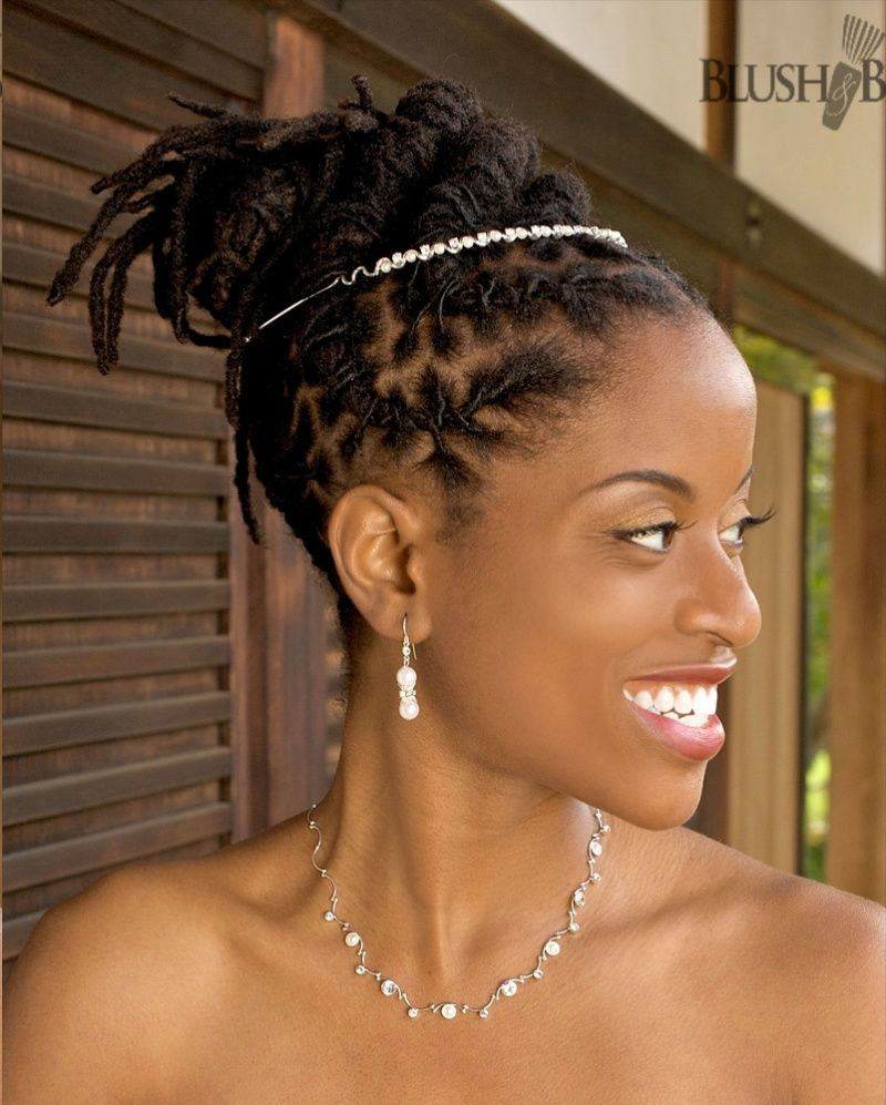 black dreadlocks updo for wedding | natrual hair | black