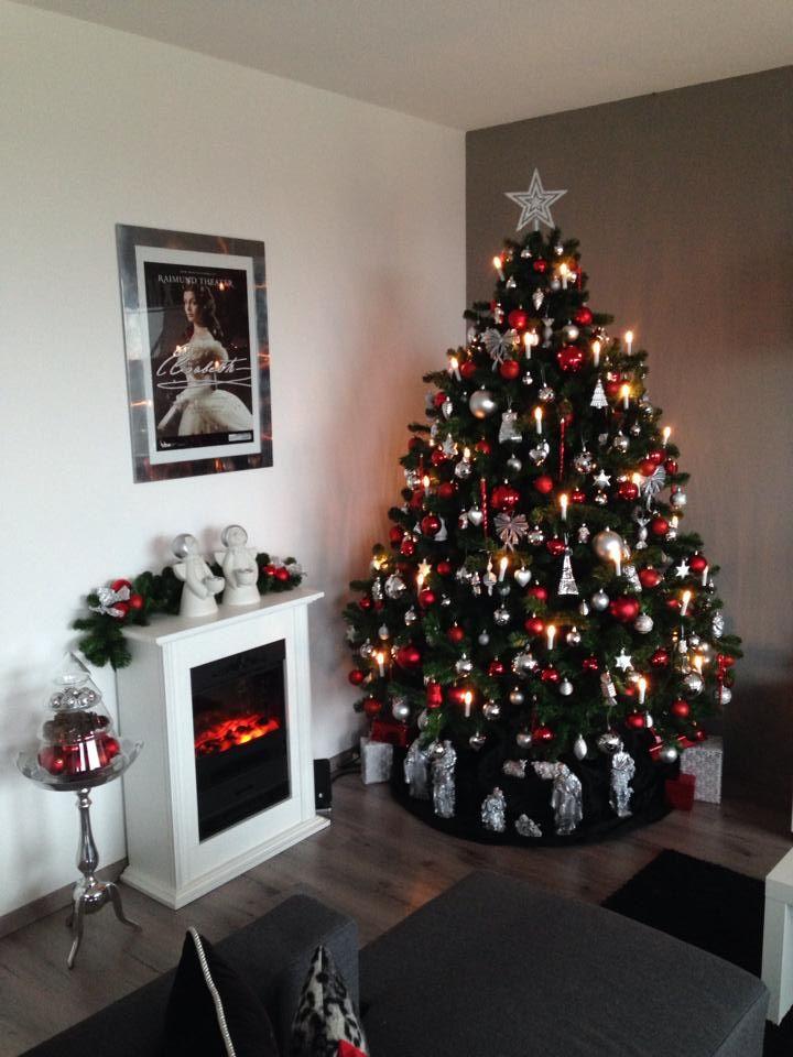 Kerstboom 2013 Zilver Met Rood Holiday Decor Christmas 50 Diy Christmas Decorations Christmas Decorations