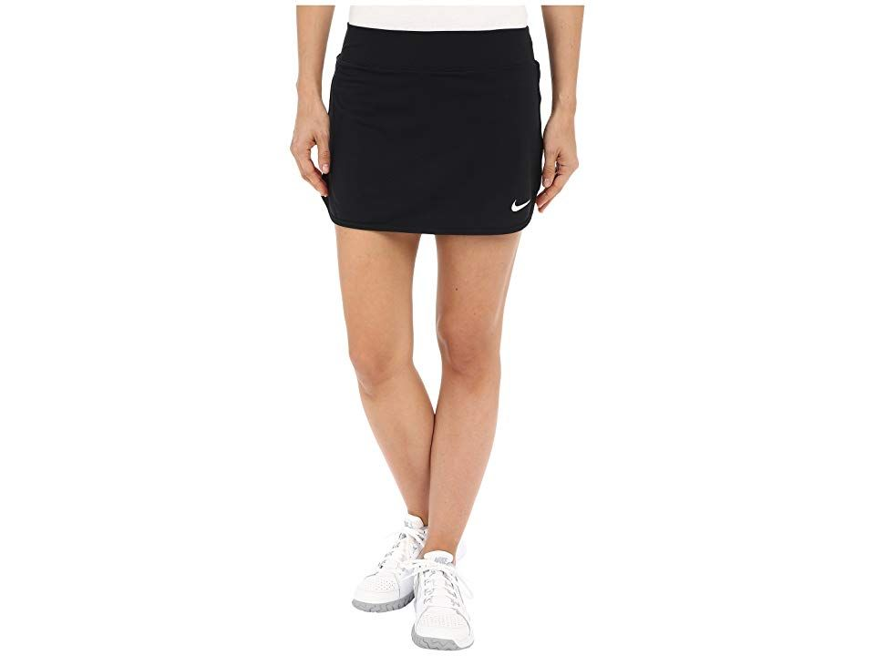 Nike Court Pure Tennis Skirt Black White Women S Skort Return The Serve So That It S Just Out Of Her Reach You D Have Tennis Skirt Clothes Polyester Skirts