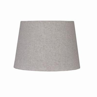 Lamp Shades Bed Bath And Beyond Entrancing 10Inch Herringbone Hardback Drum Lamp Shade In Grey  Drum Lamp Inspiration