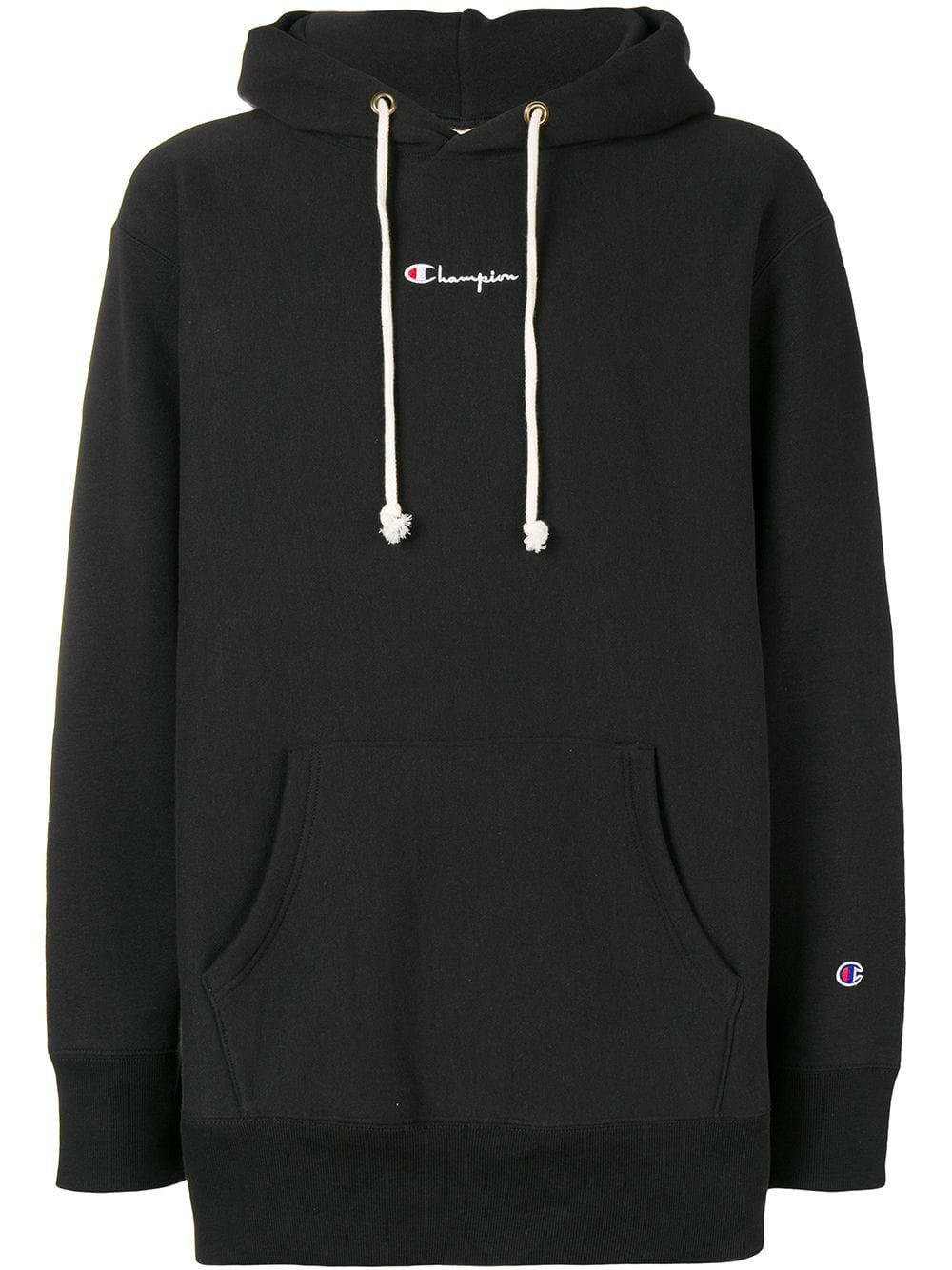 9aac6431 CHAMPION CHAMPION CONTRAST LOGO HOODIE - BLACK. #champion #cloth ...