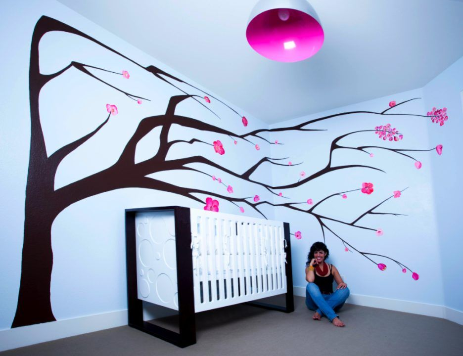 Cool Design Baby Room Ideas White Black Colors Baby Crib