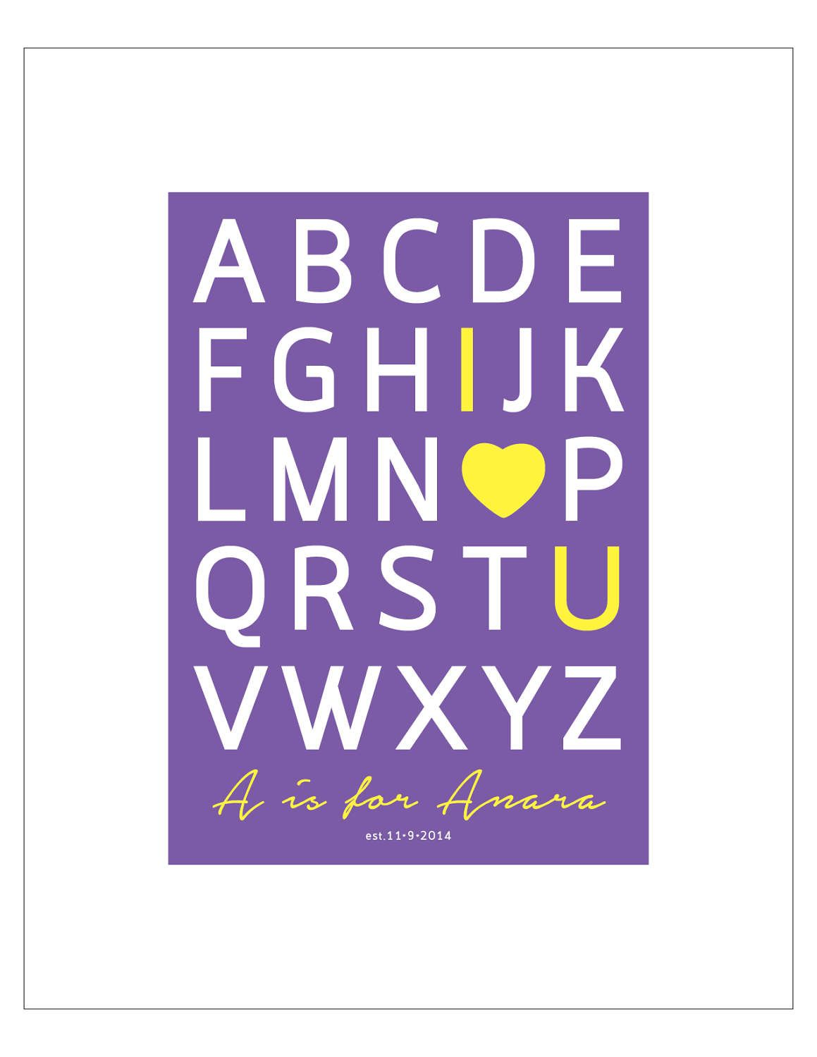 I love you alphabet sign personalized baby gift digital download i love you alphabet sign personalized baby gift digital download printable new negle Gallery