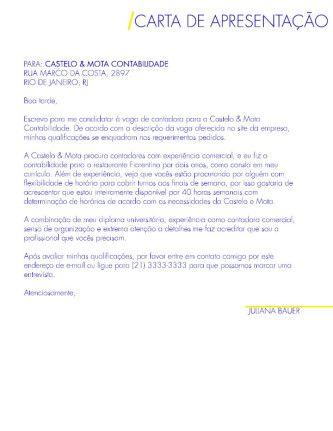 Carta De Apresentação Para Emprego Para Imprimir Carta De