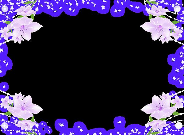 Frame Flower Background Wallpaper Flower Frame Purple Flowers Wallpaper