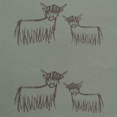 Highland Cow Wallpaper   Chocolate On Olive