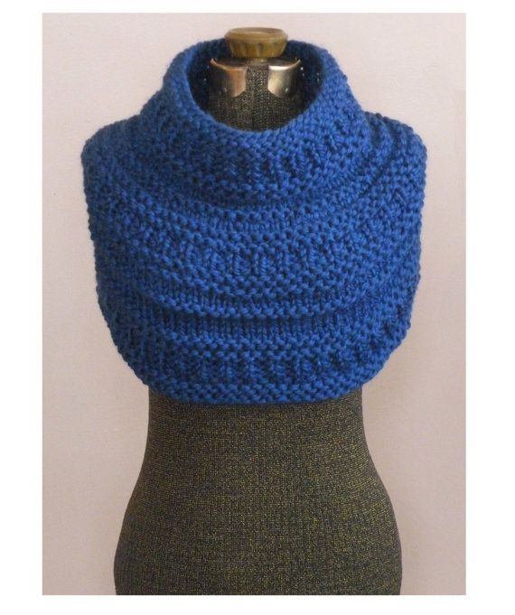 Instant Download Knitting Pattern The Montague Capelet Knit Cowl