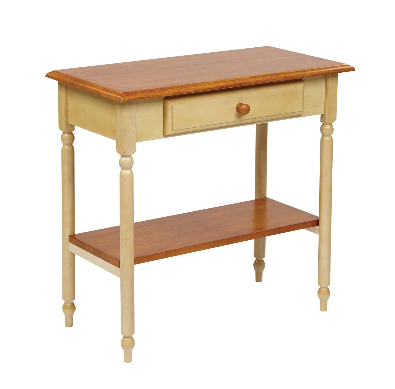 Office Star Foyer Table In Country Cottage Buttermilk & Cherry