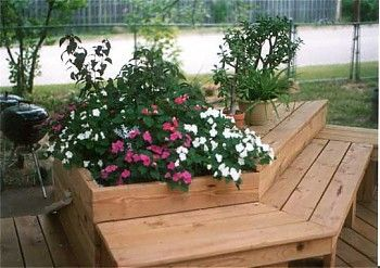 Raised Flower Bed With Seating This Would Be Cool In A Corner