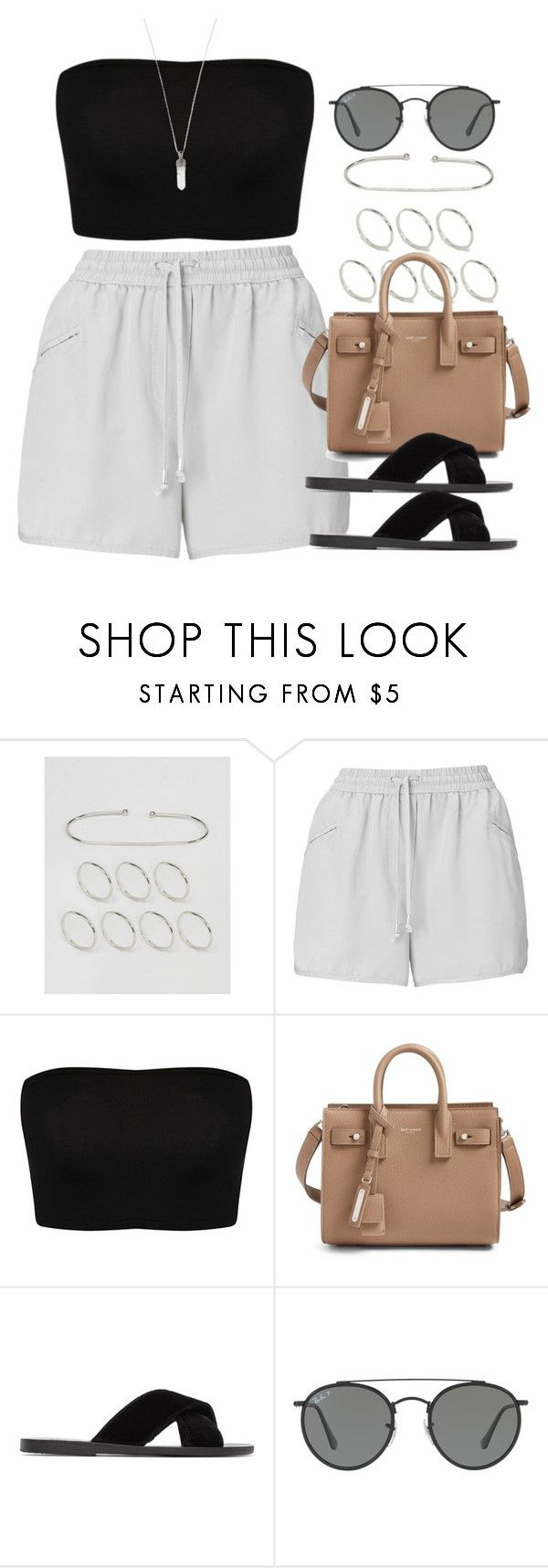 """""""Sin título #13009"""" by vany-alvarado ❤ liked on Polyvore featuring ASOS, Whistles, Yves Saint Laurent, Ancient Greek Sandals, Ray-Ban and Marc Jacobs"""