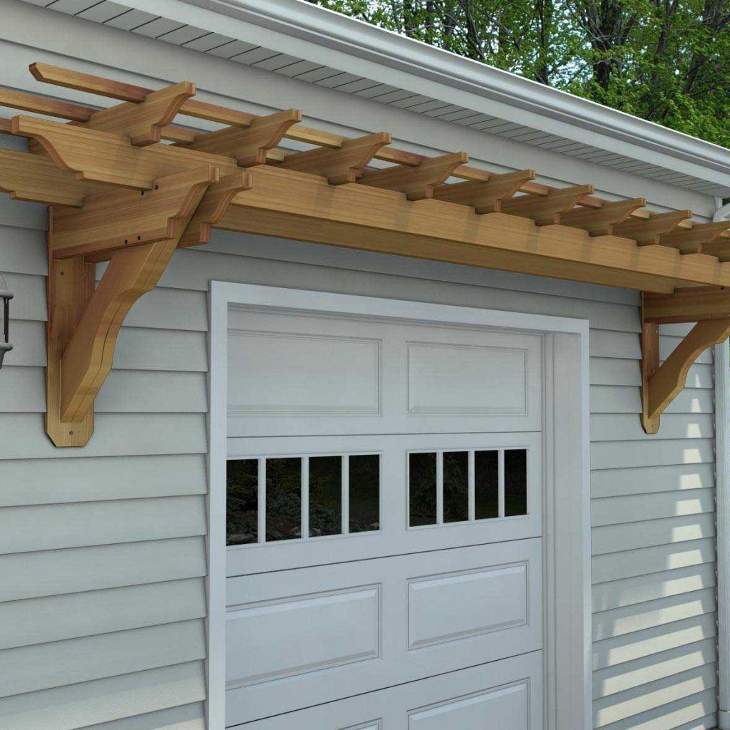 Wall Mounted Pergola Designs | Garage pergola, Cedar ...