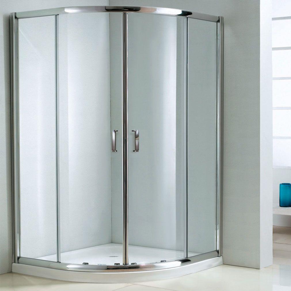 The Duchy Style Double Offset Quadrant Door Shower Enclosure, 1200mm ...