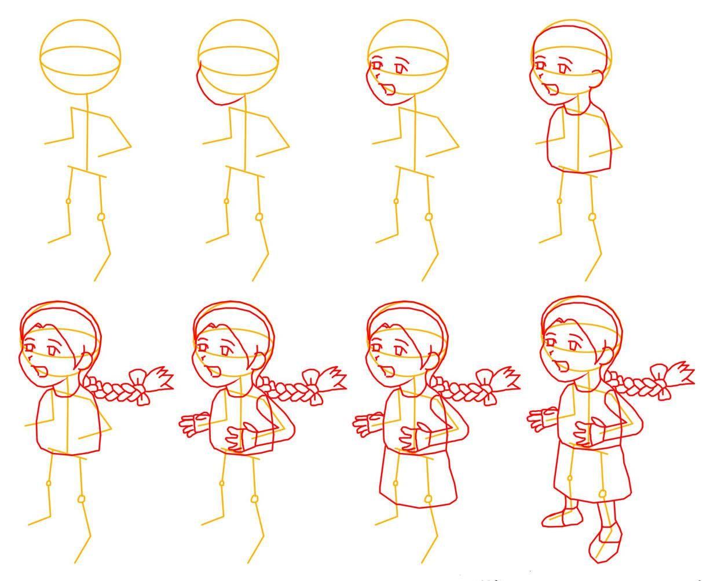 Dibujo para colorear Como dibujar una niña | dibujando | Pinterest ...