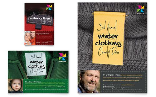 Winter Clothing Drive Flyer \ Ad Template by @StockLayouts - clothing drive flyer template