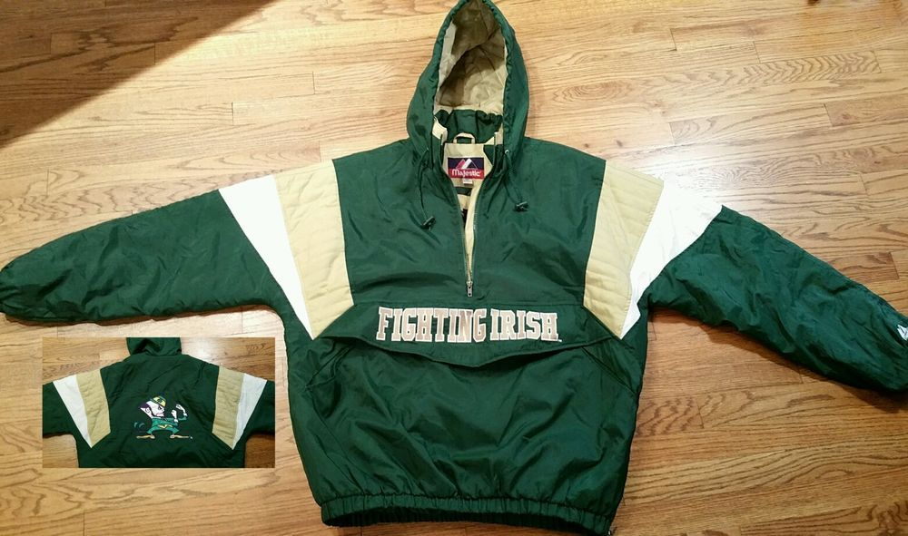 Notre Dame Fighting Irish Football Puffer Coat Hooded Jacket