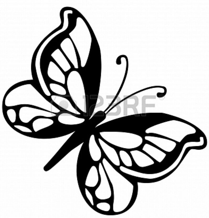 Butterfly Template Stencil From 123RF Crafts for