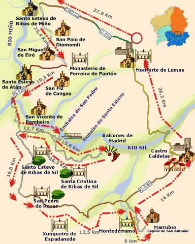 Monasterios Y Naturaleza En La Ribeirasacra Lugo Ourense Spain