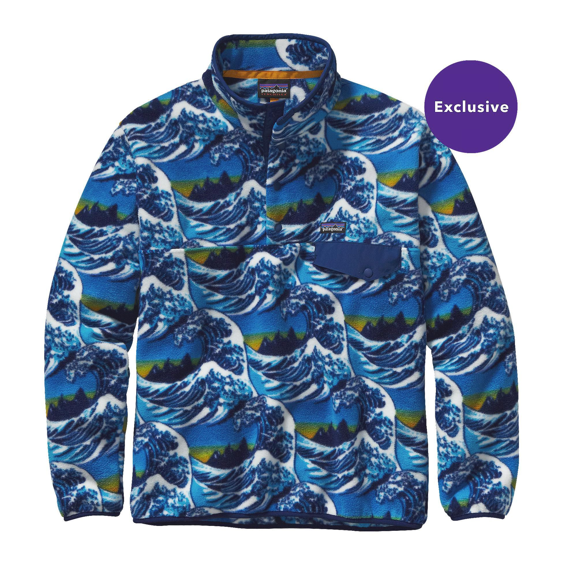 PATAGONIA MEN'S LIGHTWEIGHT SYNCHILLA® SNAP-T® FLEECE PULLOVER, $99,  Fitzroy Wave