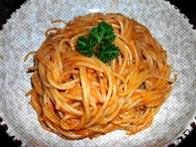 spaghetti with garlic - recipe with picture Ajvar spaghetti with garlic - recipe with picture,Ajvar