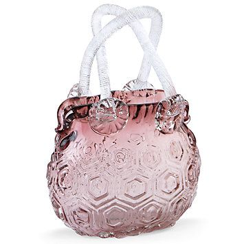 Lenox Your Home New Art Glass Purse Vase