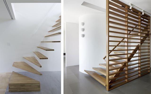 decofilia te muestra ideas para decorar casas con escaleras voladas o flotantes a base de peldaos que parecen esculturas integradas en la decoracin - Escaleras Voladas