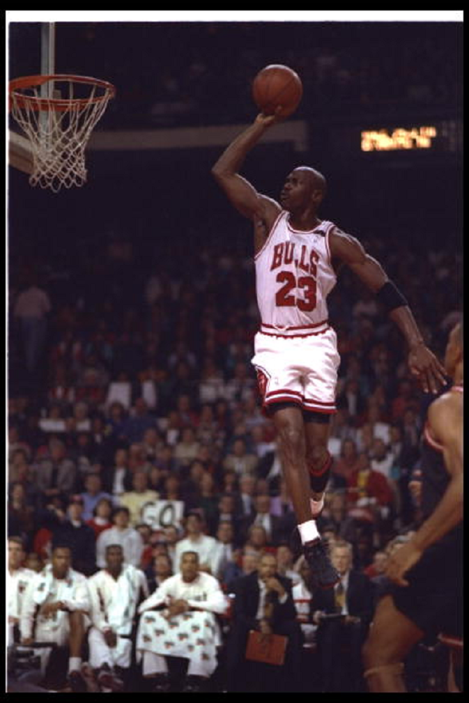 507ce30fba 24 Feb 1992: Guard Michael Jordan of the Chicago Bulls goes up for two  during a first round playoff game against the against the Miami Heat in  Miami