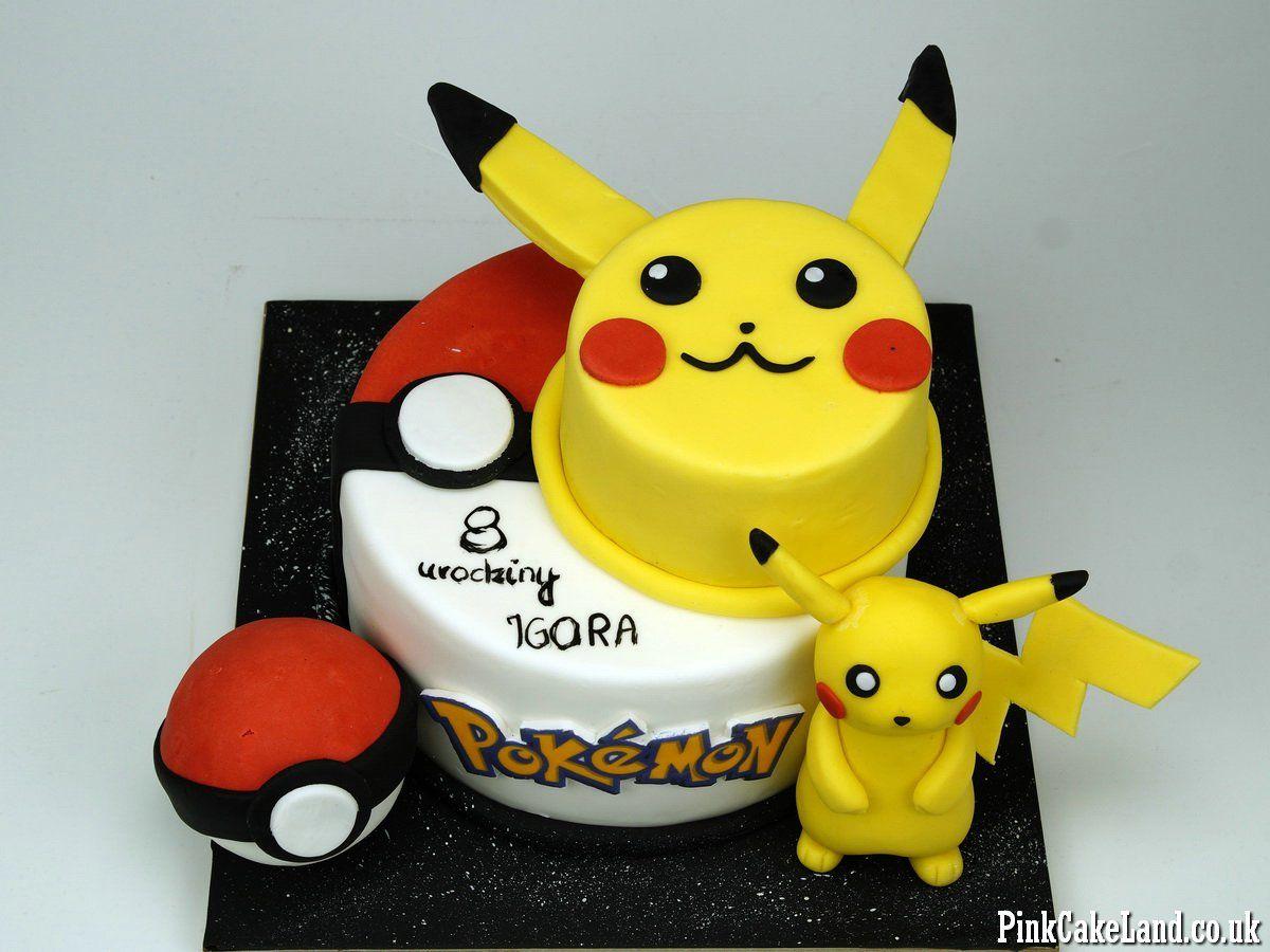 Pokemon Pikachu Birthday Cake In London Httpwwwpinkcakelandco - Birthday cakes croydon