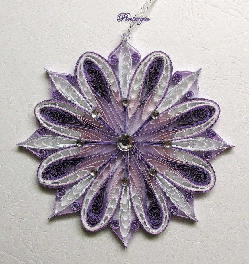 Quilled Snowflake By Pinterzsu On Deviantart Quilling border=