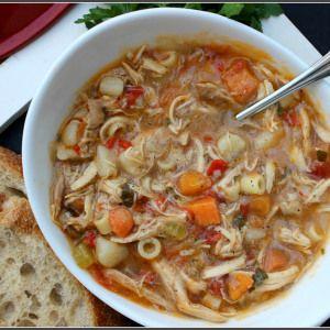 Slow Cooker Sicilian Chicken Soup Recipe Chicken Soup Recipes Clean Eating Soup Soup Recipes
