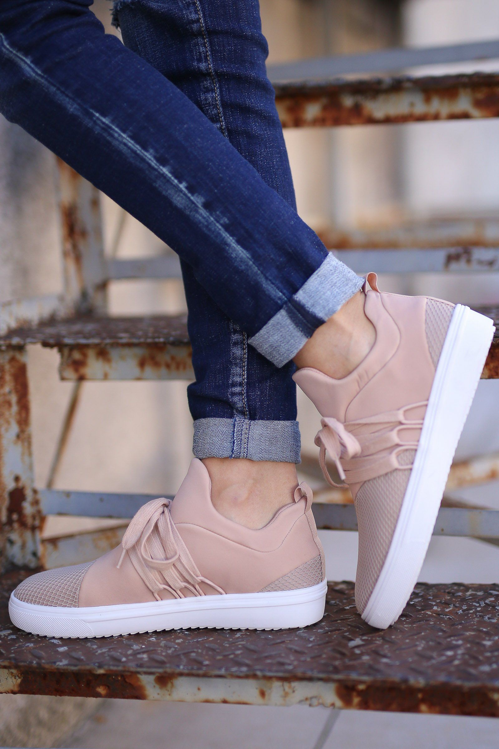 3335bb6947f STEVE MADDEN Lancer Sneakers - Blush  Sneakers