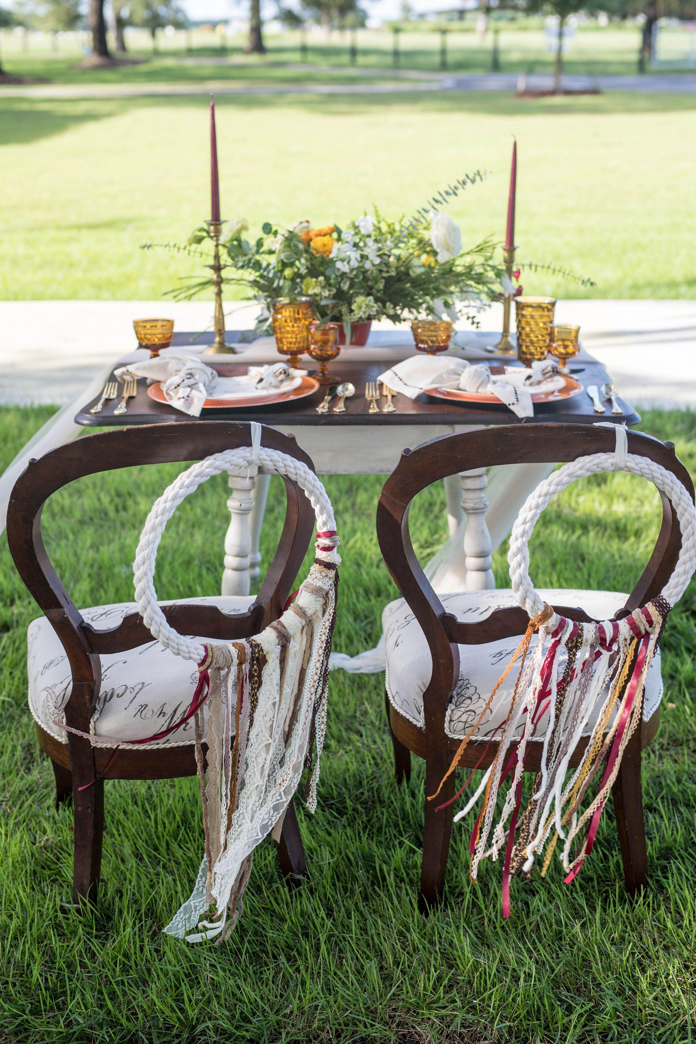 Western Fall Boho Sweetheart Table Wedding fall rustic