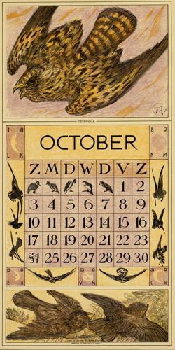 Calendario 1915.Theodoor Van Hoytema Calendar 1915 October Graphics