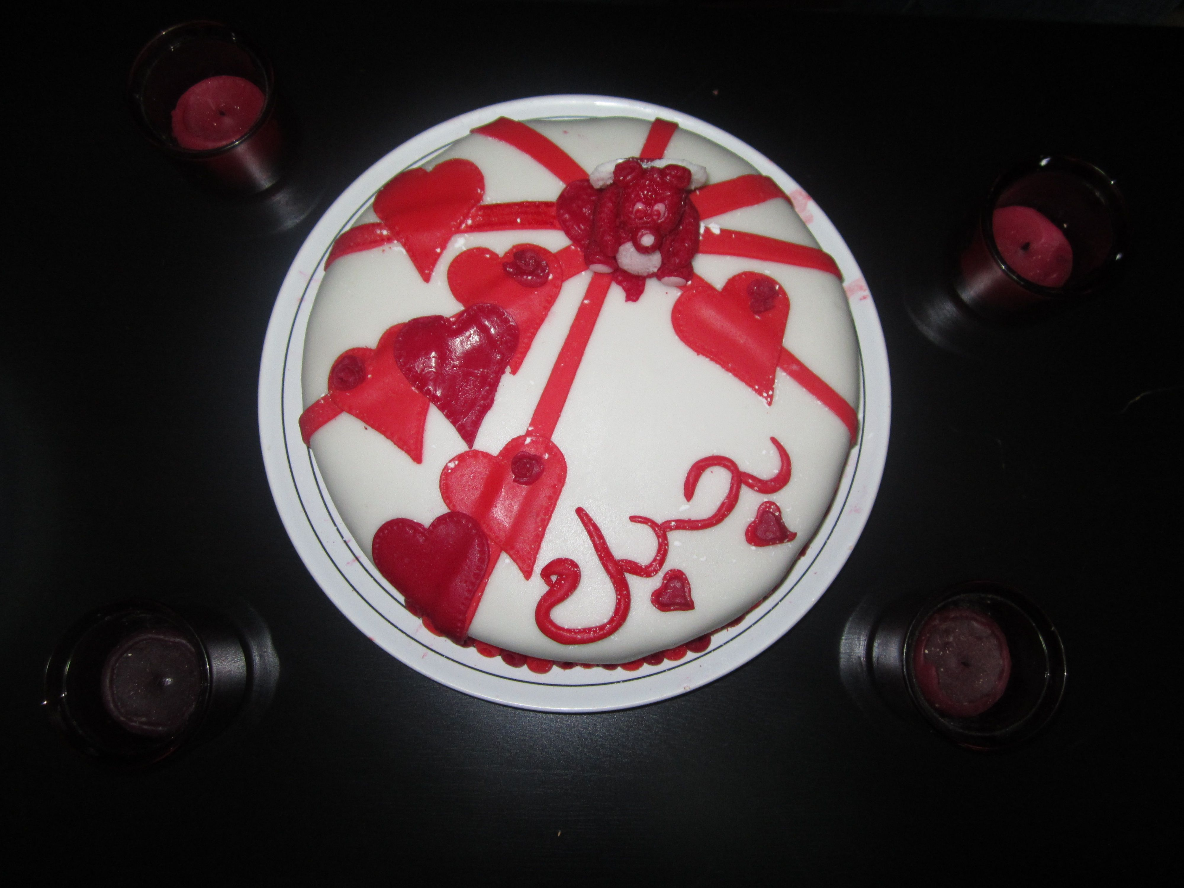 love you in arabic fondant cake | My Cakes | Birthday candles
